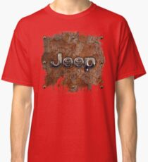 Rustic Jeep with chrome typograph Classic T-Shirt