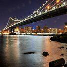 Manhattan Bridge at night by Colin White