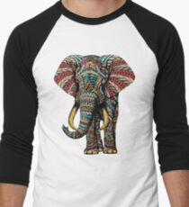 Ornate Elephant (Color Version) Men's Baseball ¾ T-Shirt