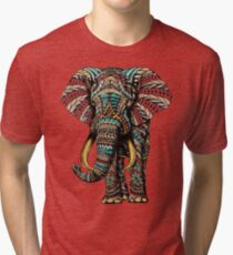 351028698aafb Ornate Elephant (Color Version) Tri-blend T-Shirt