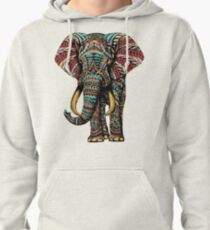 Ornate Elephant (Color Version) Pullover Hoodie