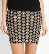 Emoji Poop Black Background Mini Skirt