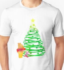 Christmas Bear and Pig Inspired Silhouette T-Shirt