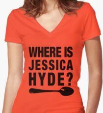 Utopia Jessica Hyde Women's Fitted V-Neck T-Shirt