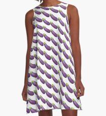 Eggplant Aubergine Emoji A-Line Dress