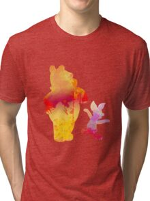 Bear and Pig Inspired Silhouette Tri-blend T-Shirt