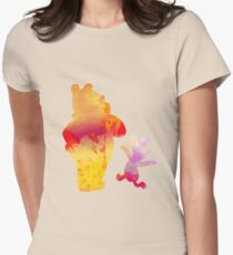 Bear and Pig Inspired Silhouette Womens Fitted T-Shirt