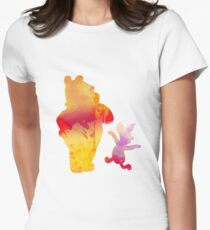 Bear and Pig Inspired Silhouette Women's Fitted T-Shirt