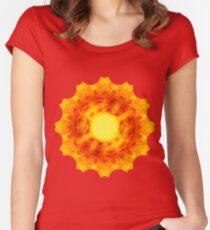 Sun-Flower Mandala Women's Fitted Scoop T-Shirt