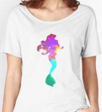 Mermaid Inspired Silhouette Women's Relaxed Fit T-Shirt
