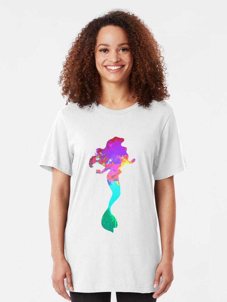 Alternative Ansicht von Meerjungfrau inspiriert Silhouette Slim Fit T-Shirt
