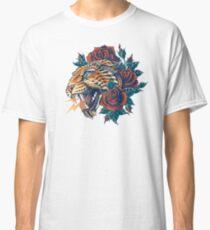 Verzierter Leopard (Farbversion) Classic T-Shirt