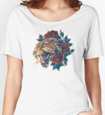 Ornate Leopard (Color Version) Women's Relaxed Fit T-Shirt