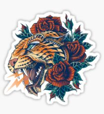 Ornate Leopard (Color Version) Sticker