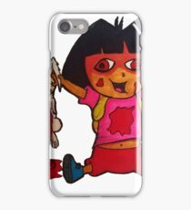 Dora and her rabbit iPhone Case/Skin