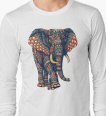 Ornate Elephant v2 (Color Version) Long Sleeve T-Shirt