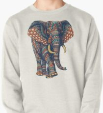 Verzierter Elefant v2 (Farbversion) Sweatshirt
