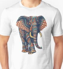 Ornate Elephant v2 (Color Version) Unisex T-Shirt