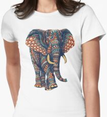 Ornate Elephant v2 (Color Version) Women's Fitted T-Shirt