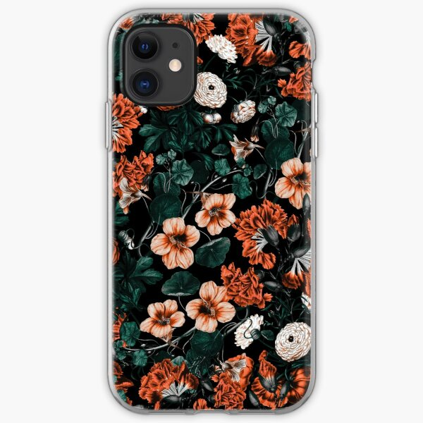 Midnight Glow. Dark Floral iphone 11 case
