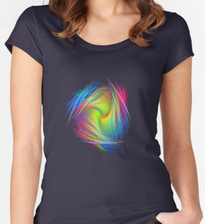 Forma 3 chaos #fractal art Fitted Scoop T-Shirt