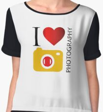 I love photography Chiffon Top