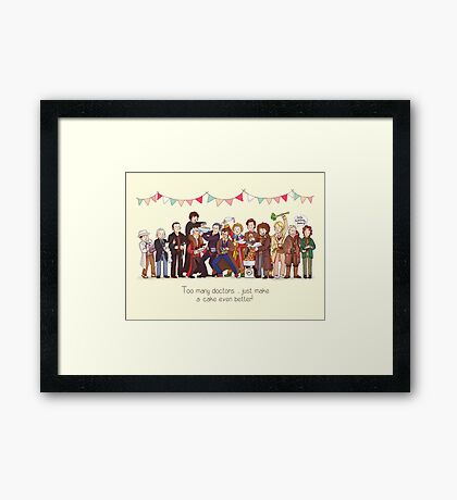 The Great Doctor Bake-Off Framed Print