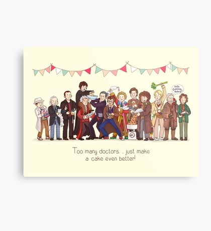 The Great Doctor Bake-Off Metal Print