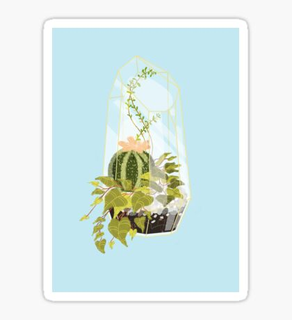 Blue Terrarium Sticker