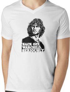 back off warchild seriously Mens V-Neck T-Shirt