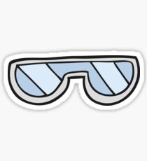 cartoon glasses Sticker
