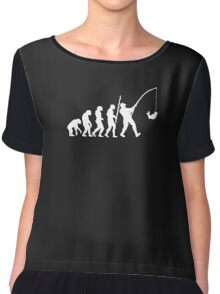 Evolution Of Fishing Funny Chiffon Top