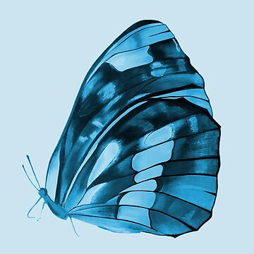 BLUE Butterfly by DeyanaDeco