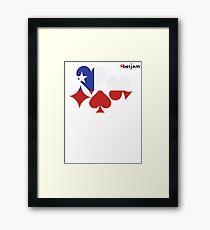 Chile Poker Framed Print