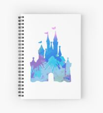 Castle inspired silhouette Spiral Notebook