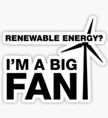 I'm A Big Fan, Electrician Humor Sticker