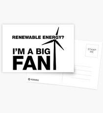 I'm A Big Fan, Electrician Humor Postcards