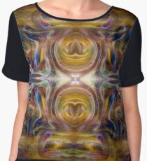 Earth Wizard Abstract Psychedelic Chiffon Top