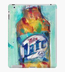 Miller Lite Beer Original Beer Art Watercolor iPad Case/Skin