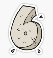 cartoon stone number six Sticker