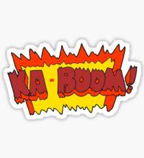 cartoon comic book explosion Sticker