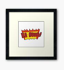 cartoon comic book explosion Framed Print