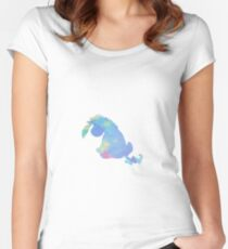 Donkey Inspired Silhouette Women's Fitted Scoop T-Shirt