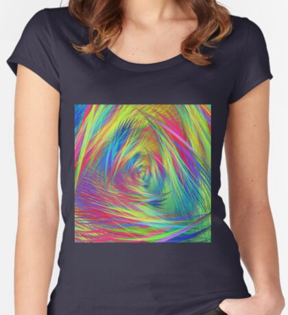 Forma 3 chaos continuous #fractal art Fitted Scoop T-Shirt