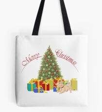 Wheaten Scottish Terrier Christmas Tote Bag
