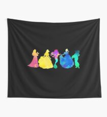 Princesses Inspired Silhouette Wall Tapestry