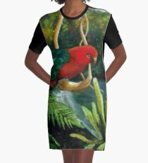 King Parrot         Acrylic painting  Graphic T-Shirt Dress