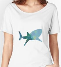 Whale shark inspired silhouette Women's Relaxed Fit T-Shirt