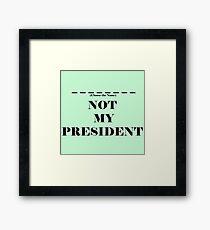 Choose the President Framed Print