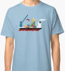 Cargo Tetris Ship Classic T-Shirt